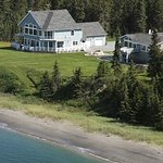  Ariel view of the Ocean-front Seascape Lodge on CooK inlet