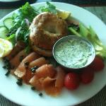 Smoked Salmon Plate for Breakfast
