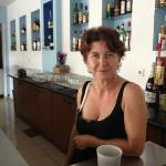 Caroline working hard at the bar! she does a mean brekkie too!