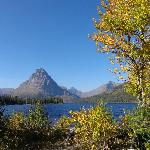 Two Medicine Lake - start of the trail to Aster Falls.  Take the Southshore Trail from the lake.