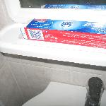 Empty toothpaste box.