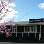 Front of Lake Maraetai Lodge