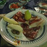 Fried Zucchini Blossoms, Proscuitto with fresh Figs