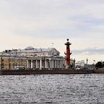 The Spit of Vasilievsky Island on River Neva