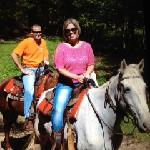 Jarrad and I horseback riding at Walden Creek Stables