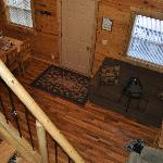  Living room of Hunters Haven looking down from the loft