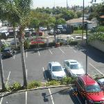 Parking lot taken from outside balcony/walkway