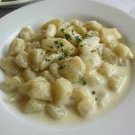  Gnocchi with cheese sauce