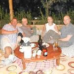 Relaxing after our meal in Turkish style seating