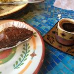  Chocolate baklava and Turkish coffee