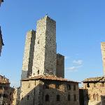 Two of the towers in San Gimignano