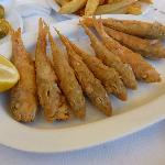 Fried small fish - yum yum!