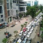 View of Gulshan Avenue from my room