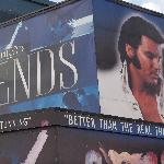  Legends billboard at the front of the Central Pier.