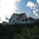 View of Hotel Klippen from the clifftops