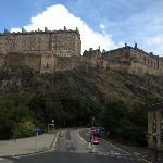 Edinburgh Castle on my trip to Edinburgh