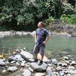 My husband appreciating the beauty of the rainforest