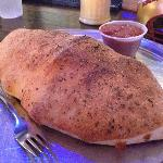 football-sized calzone