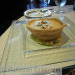 Velouté of Cauliflower Crispy Garlic Olive Bread Cocotte €7.50