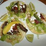 steak/fish tacos from the restaurant