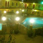  A view from my room at night overlooking the pool - lovely