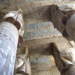 Dendera.. restoration of the color has been undertaken