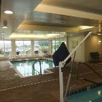 Indoor pool with ADA lift.