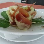 Delicious Parma ham with melon!! mmmm