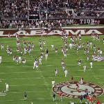  Alabama Football team warming up