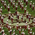  University of Alabama Marching Band with Mascot