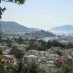 Overlooking Bodrum harbor and castle