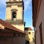 View from our window, the bell tower.