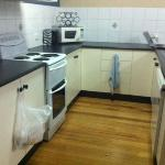 Kitchen area - well equipped with dishwasher, standard size fridge and cooking implements.