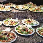 Our lunch of Cobb Salads for our group