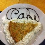  Personally decorated by the waiter! In the cafe... You gotta give him an A* for effort!