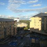 View from the 7th floor lift area across Feltham