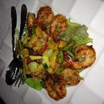 Vietnamese sweet & spicy shrimp & vegetable salad