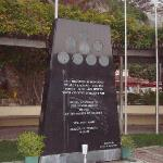  a war memorial of soldiers that lived on thee island