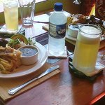  Lunch special with a cold beer or water....