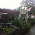 Pretty seating area on Main St.