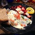 Vegetable eggwhite omelette.