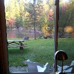  The AuSable River from our room at the Gates AuSable River Lodge