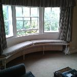 Bay window seat in our suite