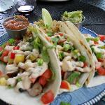  AHI fish tacos - Yum!