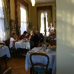 Part of breakfast room, Hotel Fontana, Stresa, Italy