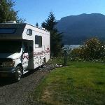 View of the Columbia Gorge from upper level RV parking