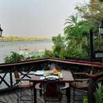 View of the Zambezi River from our deck