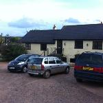 View of the back of the Inn from the large and accomodating car park