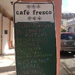 Daily specials board on King Street