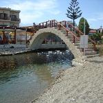 Bridge linking the pool bar to the beach